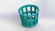 Planter for 3D-printable hydroponics system for medical marijuana