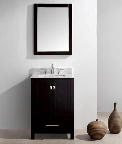 caroline avenue 24u2033 single bathroom vanity from virtu usa