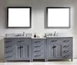 Caroline Parkway 93″ Double Bathroom Vanity Set MD-2193-WMRO-GR from Virtu USA