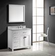 Caroline Parkway 36″ Single Bathroom Vanity MS-2136L-WMRO-WH from Virtu USA