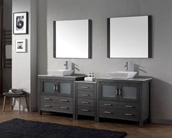 Dior 78″ Double Sink Vanity Set in Zebra Gray KD-70078-WM-ZG from Virtu USA