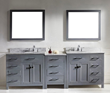 Caroline Parkway 93″ Double Bathroom Vanity Set MD-2193-WMRO-GR from Virtu USA