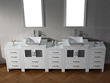 Dior 110″ Double Sink Bathroom Vanity Set in White KD-700110-S-WH from Virtu USA