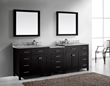 Caroline Parkway 93″ Double Sink Vanity Set in Espresso MD-2193-WMRO-ES from Virtu USA