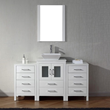 Dior 60″ Single Sink Vanity Set in White KS-70060-S-WH from Virtu USA