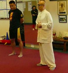 """CUng Le with his own  San Da """"Coach"""""""