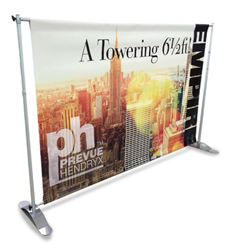 Self-Standing Telescopic Banner Stand