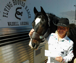 Lori Lewis with her horse Kryptonite