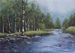 """Putnam Creek, Early Spring"" by Deborah Angilletta"