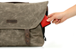 Vitesse Messenger bag—hidden Ultrasuede® phone pocket