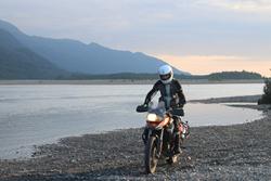 MotoQuest Guide in Scorpion Gear in Alaska