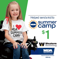 Western Refining Raises $524,286 to Help Send Kids with Neuromuscular Disease to MDA Summer Camp