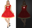 Fangirls can now have this Iron Man cap-sleeve dress, reflecting his armor, to look super stylish on their next outing – making the geek fashion world a better looking place! And it glows-in-the-dark!