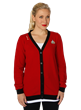 """Make it so"" with this stunning Starfleet-style Garnet Cardigan from Her Universe! Captain Jean-Luc Picard would approve of this quality-made cardigan reflecting the fashion of ""The Final Frontier."""