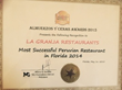 Peruvian Food Florida: La Granja Restaurants Takes Top Honors at the Almuerzos Y Cenas Awards 2015