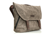 Vitesse Messenger bag—brown waxed canvas; from an angle