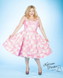 katrina parker,plus size dresses,plus size vintage dresses,vintage dresses,retro plus-size dresses,cotton candy dress