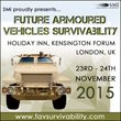 Network with senior military representation responsible for armoured vehicles technology procurement at Future Armoured Vehicles Survivability 2015