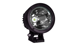 Ultra-Compact LED Spotlight that produces a 10° spot beam approximately 2,500' long