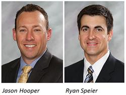 Jason Hooper, newly appointed President of KVC Health Systems, and Ryan Speier, new President of KVC Hospitals