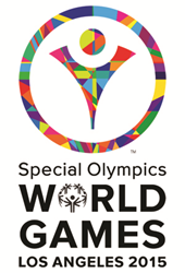 A picture of the Special Olympics World Games in Los Angeles logo