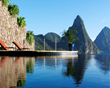 Jade Mountain sanctuary with infinity pool