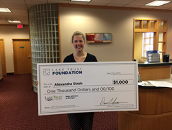 Lake Trust Credit Union Awards $1,000 Scholarship to Alexandra Stroh, Local Hudsonville HS Student