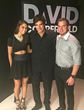 (from left) Fashion Stylist Megan Averbuch, Magician David Copperfield in Las Vegas where Averbuch curated brands during DEC Conference.