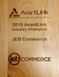 JEBCommerce Announced as AvantLink Industry Champion Award Winner for 2015