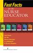 Springer Publishing's Fast Facts for the Nurse Educator Sampler Offers Comprehensive Digital Nursing Resource