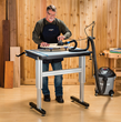 The Adjustable Height Work Station allows users to work at their most comfortable height.