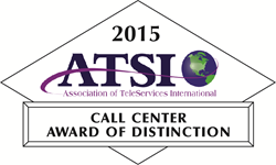 2015 ATSI Call Center Award of Distinction First American Payment Systems