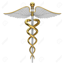 Caduceus, also known as the greek symbol