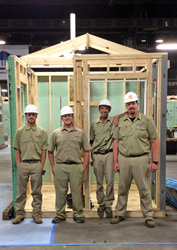Salt Lake Community College students Seth Johnson (l-r), Jason Groce, Deric Yoakam, and R.J. Beckstead won the TeamWorks division in the recent SkillsUSA Conference.