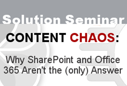 Zia Consulting Content Chaos Solution Seminar Roadshow Expanded in Texas
