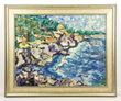 Attributed to Louis Valtat (French, 1869-1952), coastal scene, oil on canvas, initialed lower right,