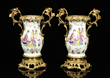 Pair of Chinese ormolu mounted porcelain vases
