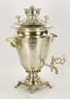 Russian samovar, silver, marked in cyrillic 84 and marker's mark, with double headed eagle