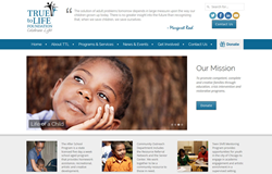 True to Life Foundation website by Idea Marketing Group