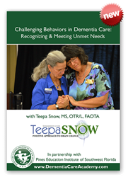 """Cover of """"Challenging Behaviors in Dementia Care"""" DVD with Teepa SNow"""