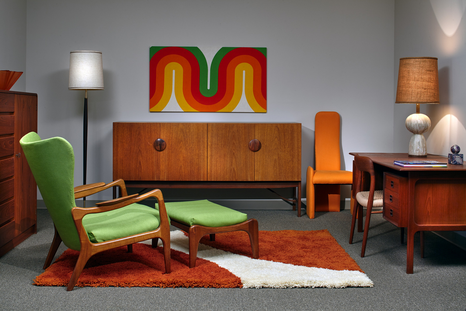 Mid Century Furniture Store Atlanta Adrian Pearsall Chair And Kofod Larsen  Credenza ...