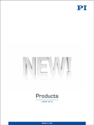 PI's New Products Catalog, Introduced at LASER 2015