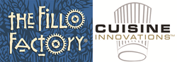 Cuisine Innovations and Fillo Factory logos