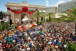FOUR THOUSAND SCIENTOLOGISTS AND THEIR GUESTS converged on downtown Clearwater for a ribbon-cutting dedication in celebration of the new Church of Scientology Information Center on Saturday, July 11.
