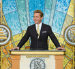 IN HIS CLOSING REMARKS, MR. DAVID MISCAVIGE welcomed all in attendance to tour the Scientology Information Center and the new humanitarian headquarters.