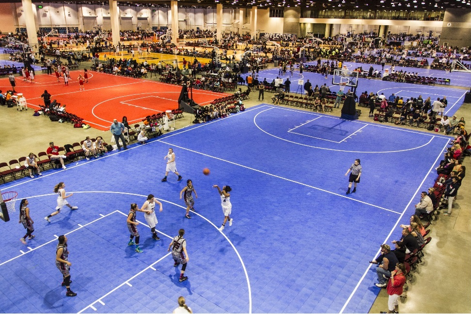 SnapSports Athletic Surfaces Are No Gamble For AAU West Coast National Basketball Championships