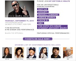 'Health In Key' gala hosted by Doug E. Fresh with...