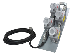 100' Cord Equipped with Four Explosion Proof Receptacles and an Explosion Proof Plug