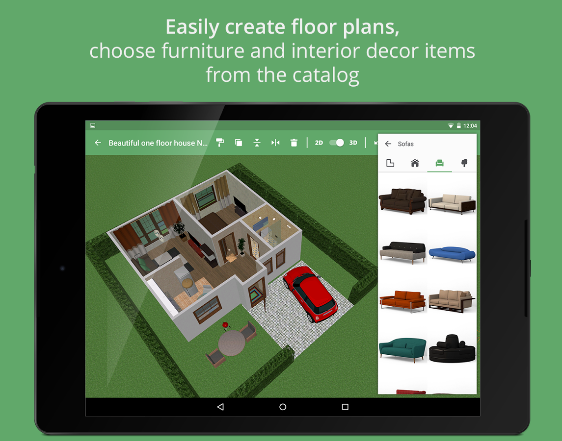 Android users can create floorplans and interior designs Interior design app android
