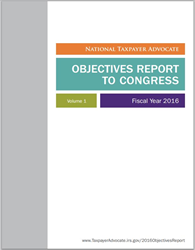 FY 2016 Objectives Report to Congress Cover